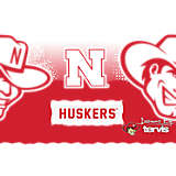 Stainless Steel Tumbler, Nebraska Cornhuskers Knockout