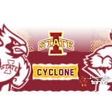 Stainless Steel Tumbler, Iowa State Cyclones Knockout