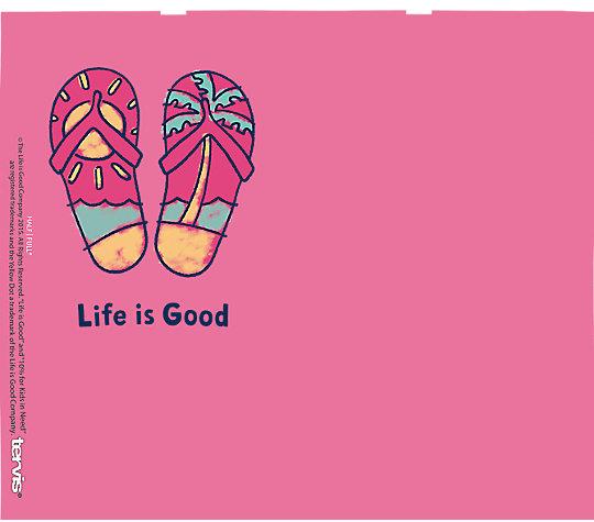 Life is Good® - Pink Flip Flops image number 1