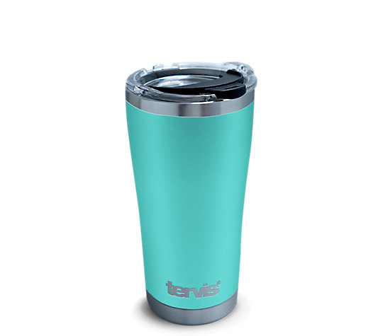 Powder Coated Stainless Steel Tumbler, Seafoam Blue