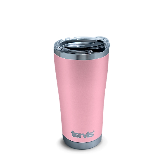 Powder Coated Stainless Steel Tumbler, Pink