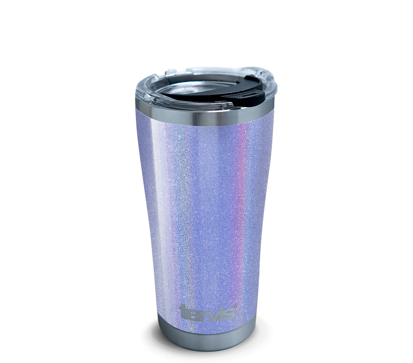 305d4788960 Shimmer Silver Violet Stainless Steel With Hammer Lid | Tervis ...