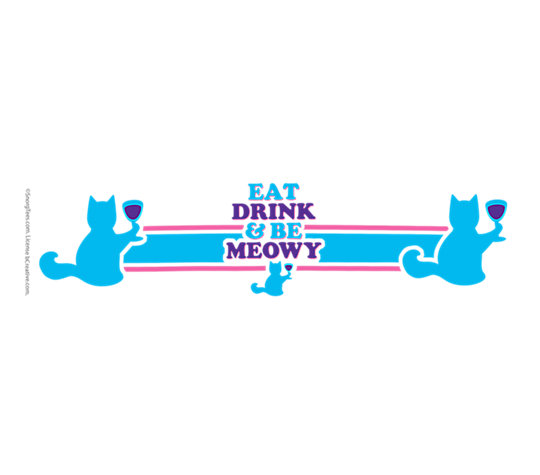Snorg Tees - Eat Drink Meowy image number 1