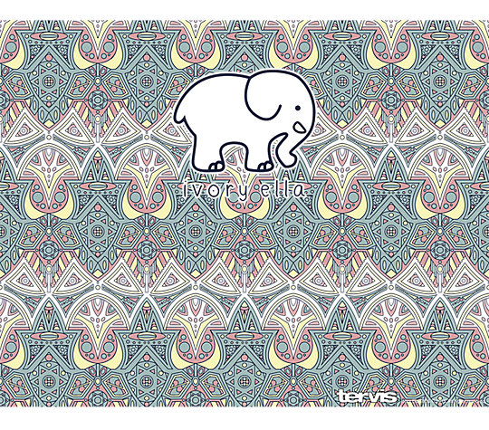 Ivory Ella - Mosaic Print image number 1