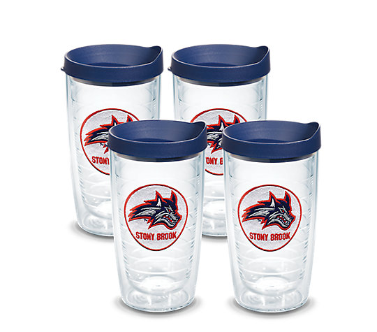 Stony Brook Seawolves Logo Emblem With Travel Lid 4 Pack