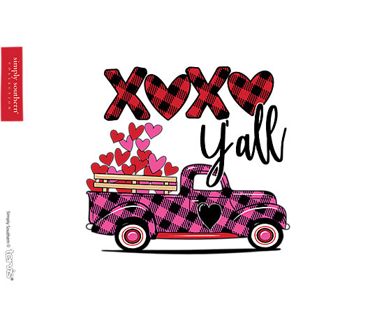 Simply Southern® - XOXO Plaid Truck image number 1
