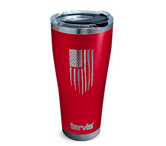 American Flag Laser-Engraved Red image number 0