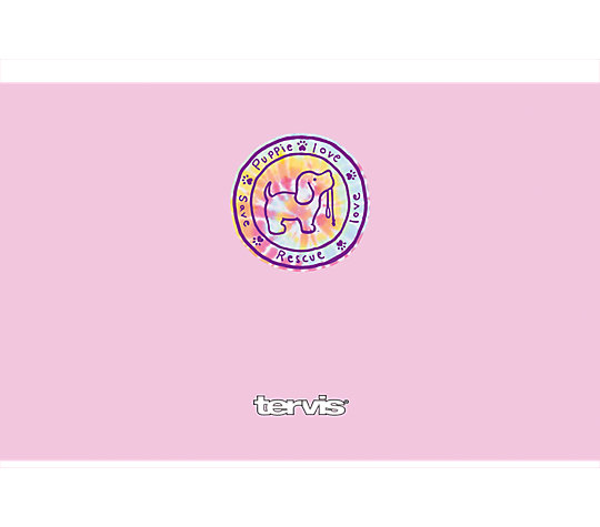 Puppie Love - Pink Tie Dye Pup