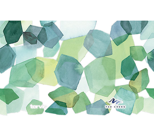Yao Cheng - Hexagon Green Blue image number 1