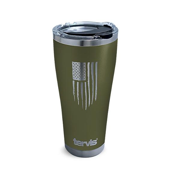 American Flag Laser-Engraved Olive