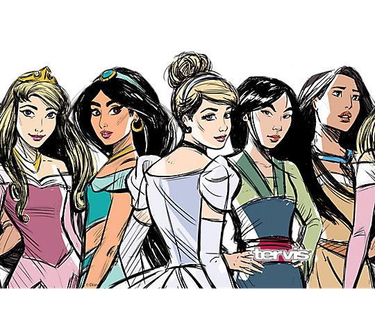 Disney® - Princess Group Sketch image number 1