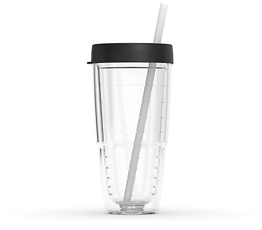 Tumbler with Reusable Straw and Lid image number 0