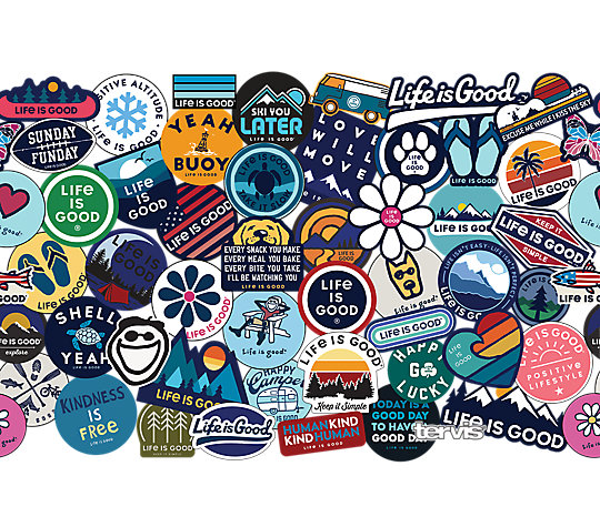 Life Is Good® - Sticker Collage