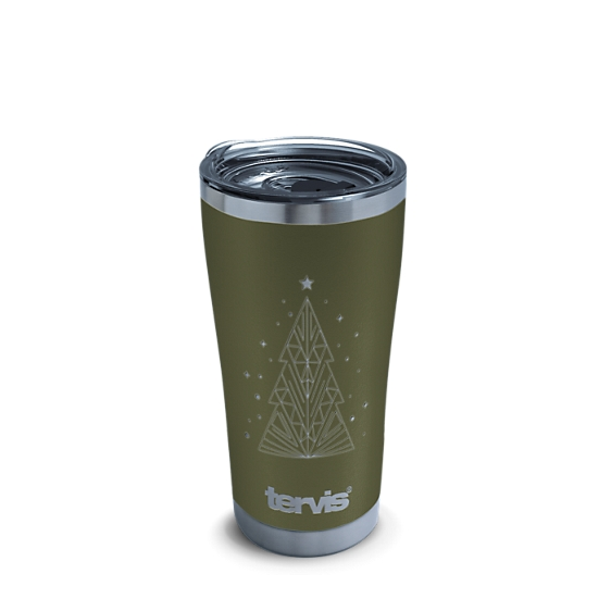 Christmas Tree Engraved on Olive