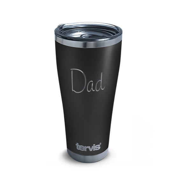 Dad Engraved on Onyx Shadow