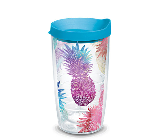 a777889becf Watercolor Pineapples Wrap With Travel Lid   Tervis Official Store