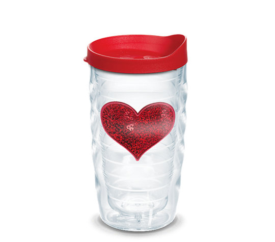 Tervis Red Sequins Heart 10oz Tumbler