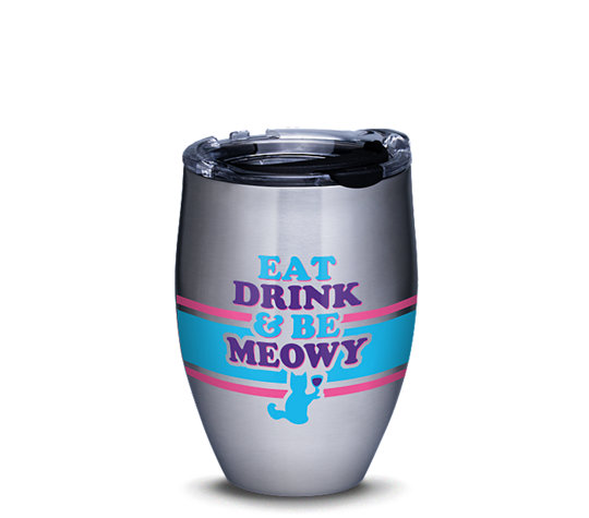 Snorg Tees - Eat Drink Meowy