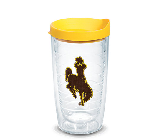 Wyoming Cowboys Logo Emblem With Travel Lid Tervis