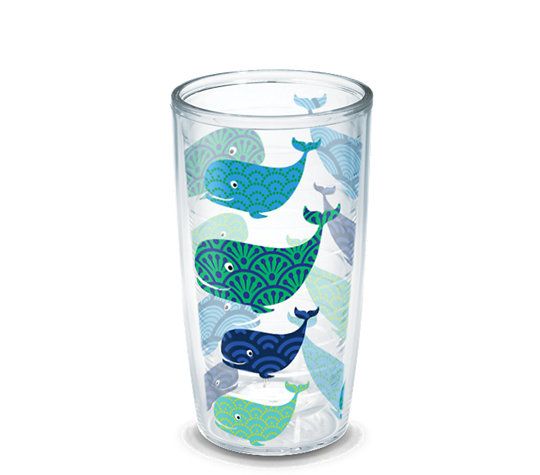 Whale Pattern Wrap With Lid Tervis Official Store