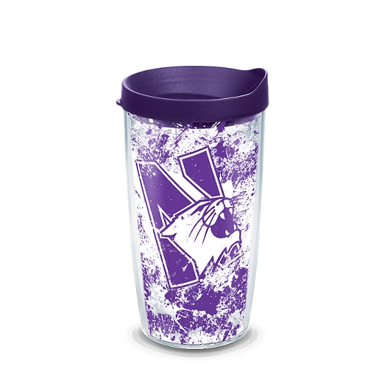 Northwestern Wildcats Splatter