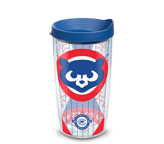 Mlb 174 Chicago Cubs Cubby Bear Wrap With Lid Tervis