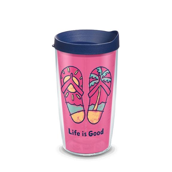 Life is Good® - Pink Flip Flops
