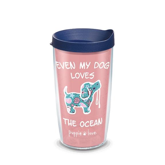 Puppie Love - Dog Loves The  Ocean