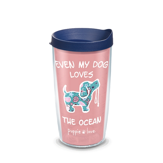 Puppie Love - Dog Loves The  Ocean