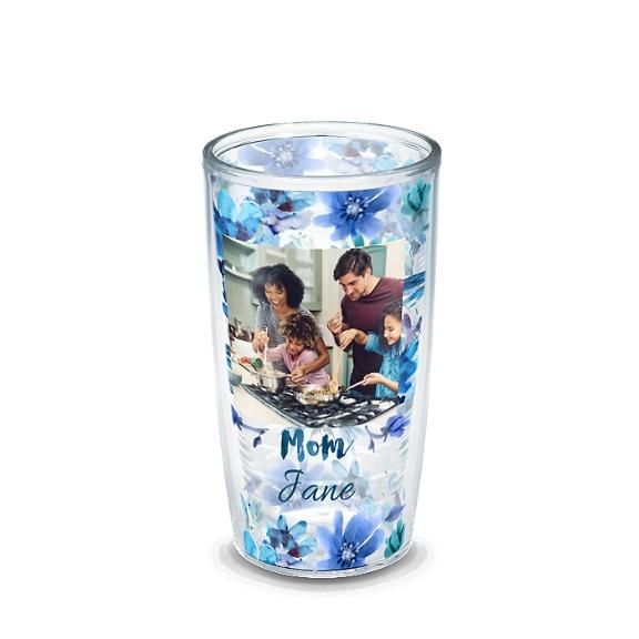 Mom Blue Floral