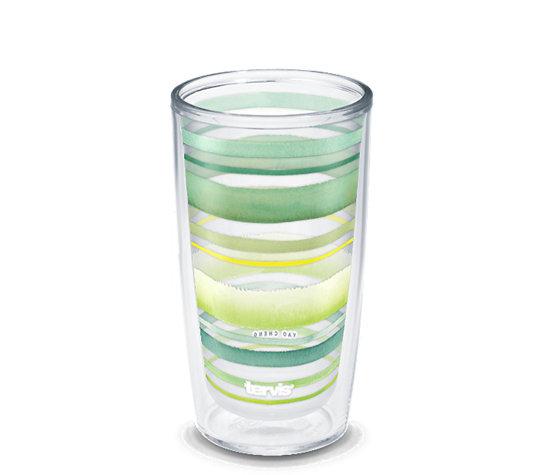 Yao Cheng - Green Blue Stripe