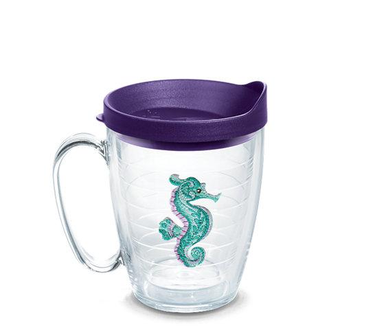Purple Teal Seahorse image number 0