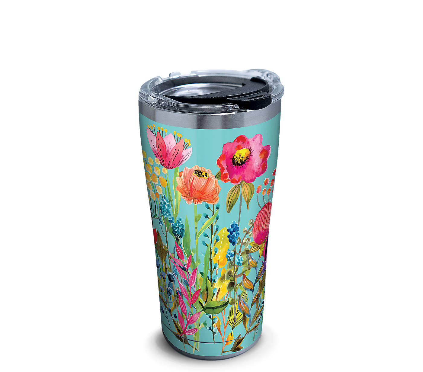 4e96f3030c0 Watercolor Wildflowers Stainless Steel With Hammer Lid | Tervis ...