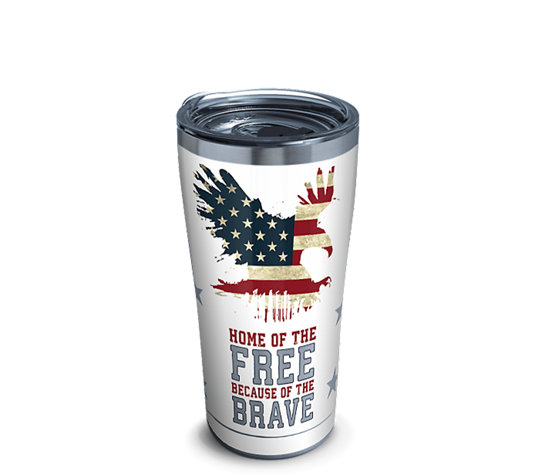Stainless Steel Tumbler Home Of The Free Because Of The