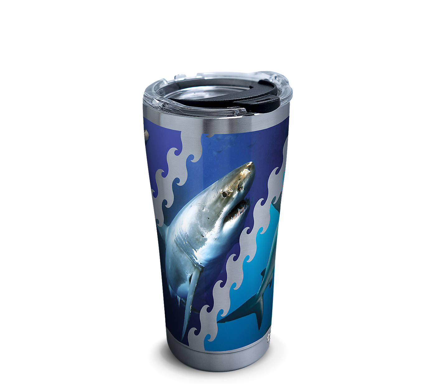 Zoomed view of Stainless Steel Tumbler, Discovery - Shark Week Photos (Limited Edition)