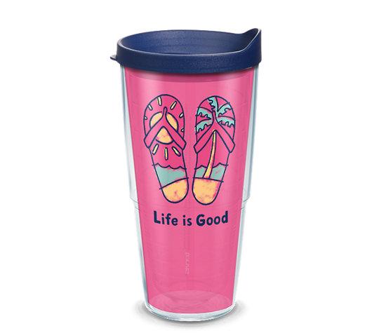 Life is Good® - Pink Flip Flops image number 0