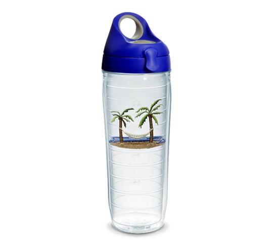 90e615f45e4 Palm Tree & Hammock Scene Emblem With Water Bottle Lid   Tervis ...