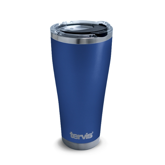 Powder Coated Stainless Steel Tumbler, Blue