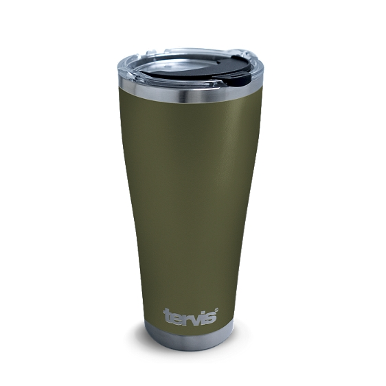 Powder Coated Stainless Steel Tumbler, Olive