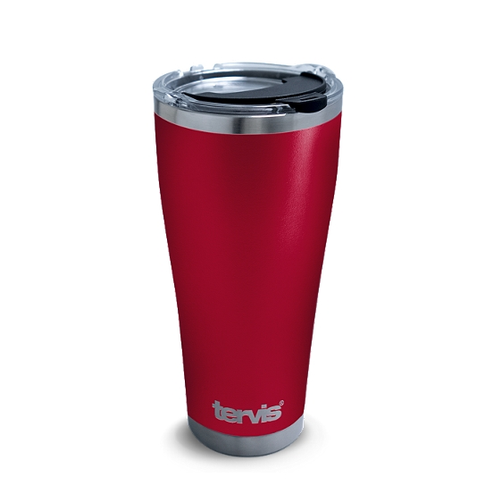 Powder Coated Stainless Steel Tumbler, Red