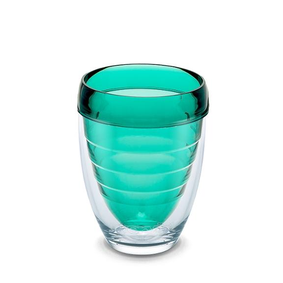 Stemless Wine Glass, Coastal Green