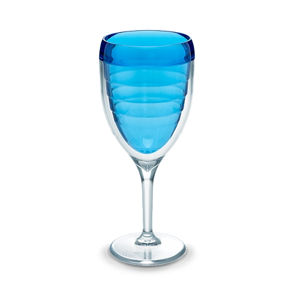 Wine Glass, Beachfront Blue